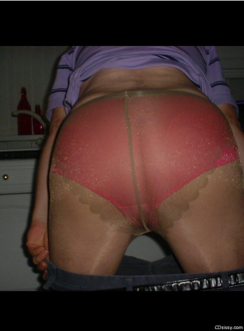 Buster in wife's underwear