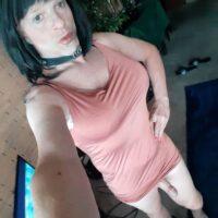 sissy slut steve kuhn peach dress with cock-7ccd5339